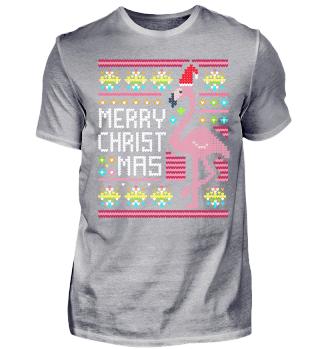 Ugly Christmas Sweater Flamingo