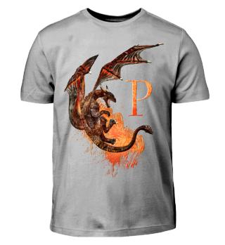 Drachen Buchstabe P (Kinder T-Shirt)