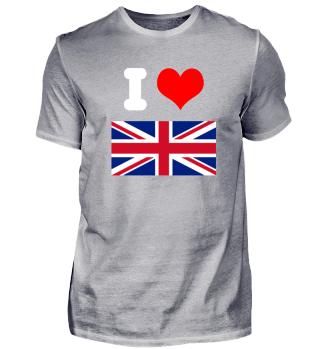 I love Großbritannien Design Geschenk