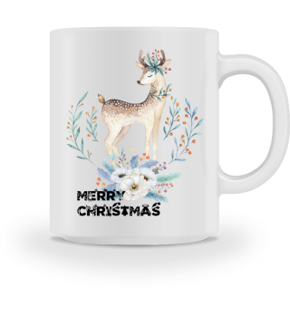 ♥ MERRY CHRISTMAS · DEER #8AT