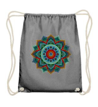 Handpan - Hang Drum Mandala - blue red