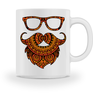Folklore Mandala Hipster Glasses Beard 2