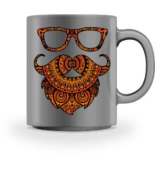 Folklore Mandala Hipster Glasses Beard 2