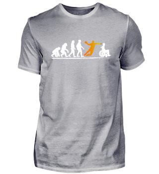 Handball Tshirt Evolution Geschenk