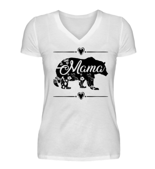 Beautiful Mama Bear with floral deco