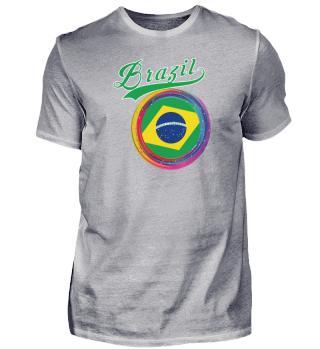 Brazil Sports 2021 Holi Color Framed Brazil Flag product
