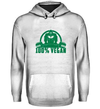 100% Vegan AF Muscle Gorilla
