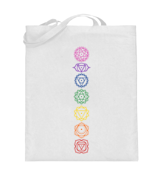 7 Chakra Symbole - Farben Zuordnung