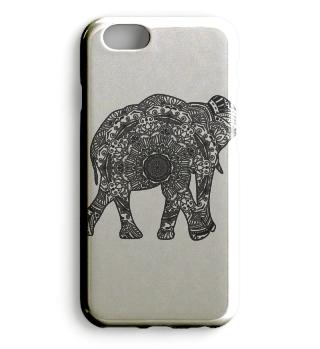 Elefant Smartphone-Hülle Mandala