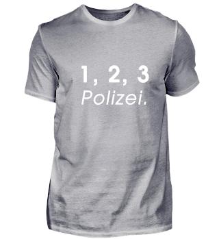 1, 2, 3 Polizei (Schrift weiss)