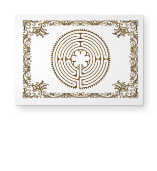 Chartres Labyrinth antique metal II Post