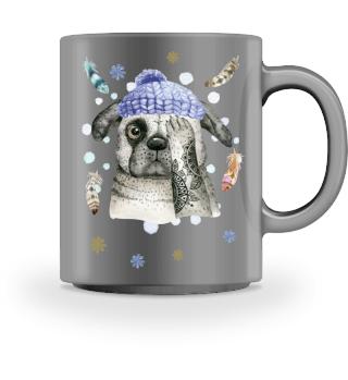 ☛ Merry Christmas · Boho Dog #10CPT