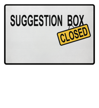 suggestion box - closed door mat