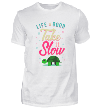Life is Good Take it Slow Turtle Gift
