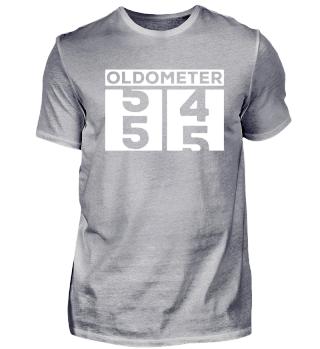 Oldometer 55. Geburtstag Birthday Shirt
