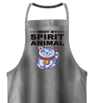 Meet Spirit Animal - Maneki-neko - black