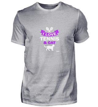 Tennis Katze Sport Liebe Geschenk