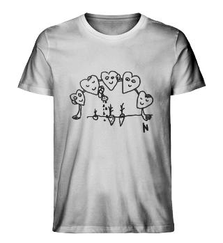 Hearts - Organic men t-shirt