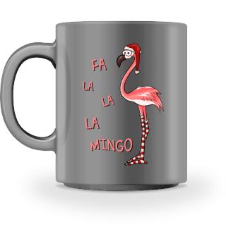 Fa La La Mingo Flamingo Weihnacht