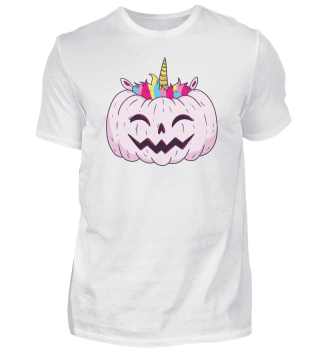 Halloween Kürbis Monster als Einhorn