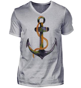 ♥ Aquarell - Anker mit Seil