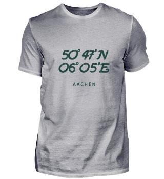 Aachen Koordinaten Vintage Geschenk