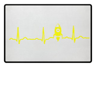 GIFT - ECG HEARTLINE ROCKET SPACE YELLOW