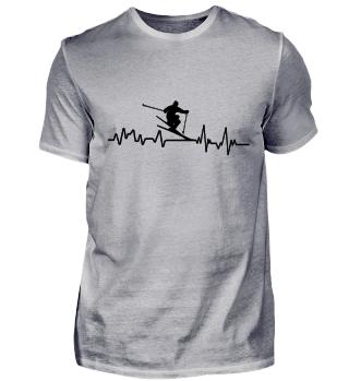 Heartbeat Ski Alpin - T-Shirt