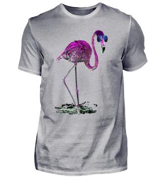 Pink Flamingo Sonnenbrille Galaxie