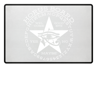 ★ Mystical Pentagram Horus Board - white