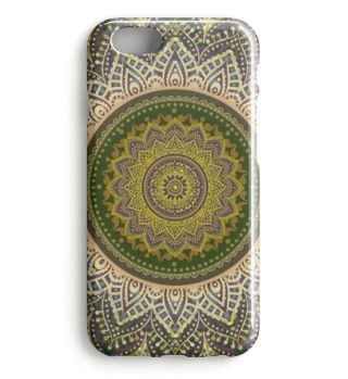 ★ Folklore Lotus Mandala Green Brown I