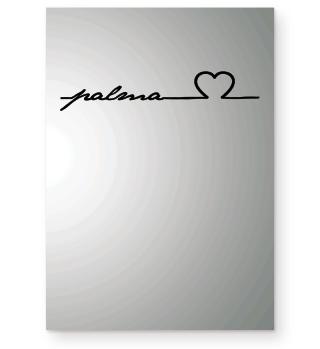Palma Mallorca Herz Linie Geschenkl