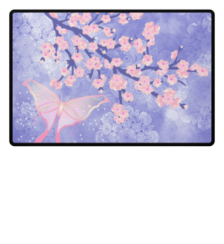 ♥ Cherry Blossoms Butterfly Mandala 2