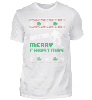 Funny Snowboard Shirt Merry Christmas