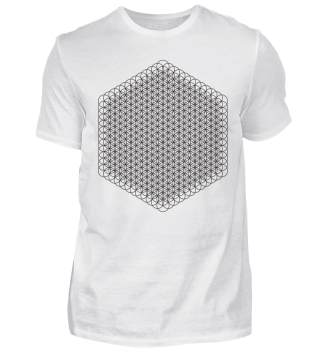 Flower Of Life - 12 Energy Level black