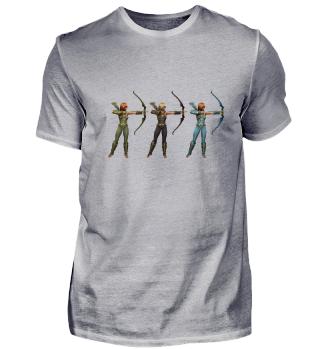 Drei Bogenschützinnen