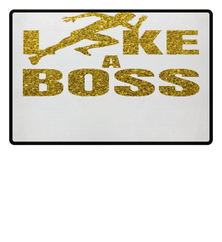 Laufen LIKE A BOSS Gold Glitzer