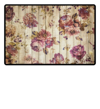 ★ Victorian Vintage Flowers On Wood 1