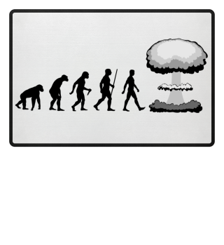 Evolution Of Humans - mushroom cloud I