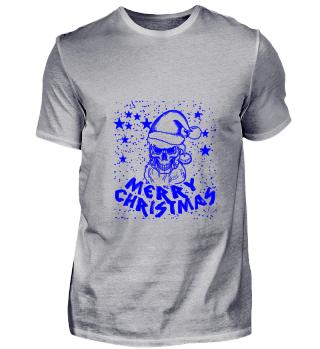 GIFT- MERRY CHRISTMAS SKULL BLUE