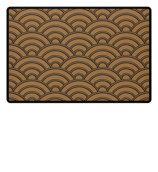 Geometric half-circles waves brown