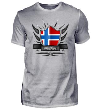 Norwegen-Norway Proud Wappen Flag 012