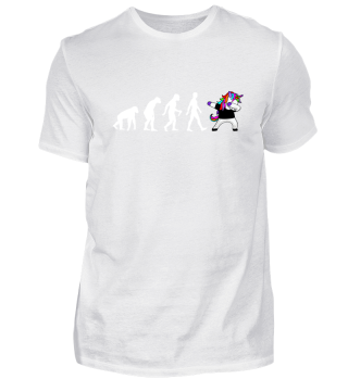 Evolution Of Humans - Dabbing Unicorn 2