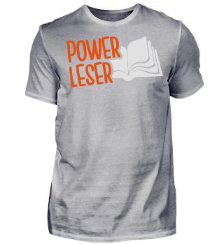 Powerleser - Tshirt