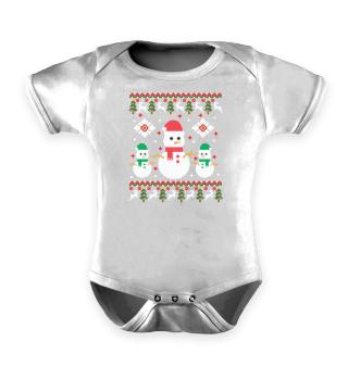Ugly Christmas Snowman Mr. Snow Reindeer