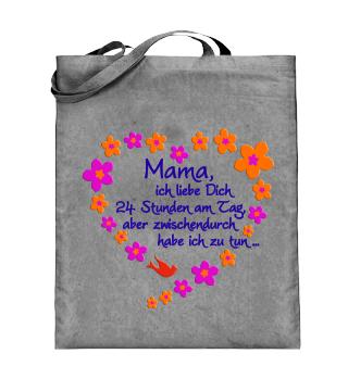 ☺ Mama Ich Liebe Dich - Blüten Herz 2c