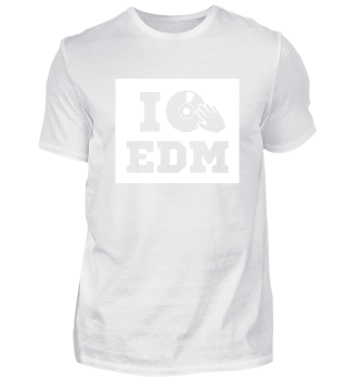 I love EDM. white