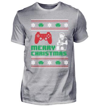Funny Gamer Gaming Shirt Merry Christmas