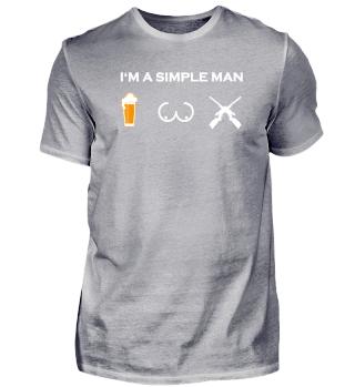 simple man like boobs bier beer titten jagen jäger