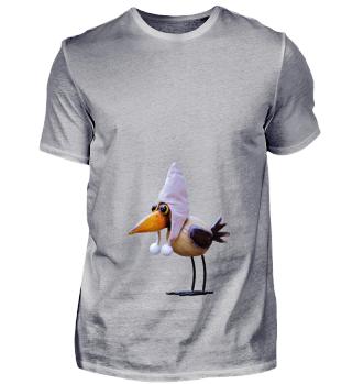 Vogel Fliegen mit Hut